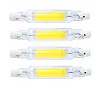 abordables -4 pièces 4 W Tubes Fluorescents 400 lm R7S T 1 Perles LED COB Imperméable Rotatif Intensité Réglable Blanc Chaud Blanc Froid 220-240 V