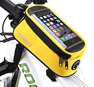 abordables -ROSWHEEL Sac de téléphone portable Sac Cadre Velo 4.8/5.5 pouce Ecran tactile Etanche Cyclisme pour Samsung Galaxy S6 LG G3 Samsung Galaxy S4 Bleu / Noir Jaune Rouge Cyclisme / Vélo / iPhone X
