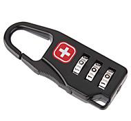 economico -Lucchetto con codice Accessori per valigia Metallo 1 pezzo Nero Accessorio di viaggio