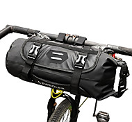 economico -ROSWHEEL 3-7 L Sacca da manubrio bici Regolabile Ompermeabile Compatta Borsa da bici TPU Marsupio da bici Borsa da bici Ciclismo / Strisce riflettenti
