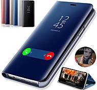 economico -telefono Custodia Per Samsung Galaxy Integrale Custodia in pelle S9 S9 Plus S8 Plus S8 Bordo S7 S7 S10 S10 + Galaxy S10 E Con supporto Placcato A specchio Tinta unica Resistente pelle sintetica