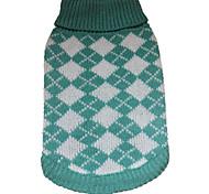 abordables -Chien Manteaux Pull Vêtements pour chiots Tartan Britannique Classique Style Simple De plein air Vêtements pour Chien Vêtements pour chiots Tenues De Chien Vert Costume pour fille et garçon chien