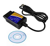 economico -ziqiao elm327 usb v1.5 obd2 car diagnostic interface scanner elm 327 v1.5 obdii strumento diagnostico