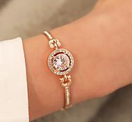 abordables -Bracelet Bracelets Femme Classique Cercle Elégant Bracelet Bijoux Or rose Dorée Argent pour Quotidien Rendez-vous Valentin