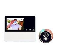abordables -systèmes visiophones numériques sans fil visionneuse de porte de sécurité haut-parleur intégré 3,2 pouces mains libres un portier vidéo