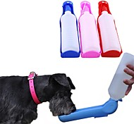 economico -Prodotti per cani Animali domestici Ciotole & Bottiglie / Mangiatoie 0.5 L Plastica Portatile All'aperto Viaggi Monocolore Lolita Colore casuale Ciotole e alimentazione