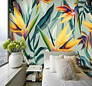 abordables -papier peint de feuilles tropicales colorées papier peint revêtement mural
