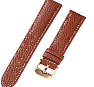 economico -vera pelle / Pelle / Pelo di vitello Cinturino per orologio  Marrone 20 cm / 7,9 pollici 1 cm / 0,39 pollici / 1,2 cm / 0,47 pollici / 1,3 cm / 0,5 pollici