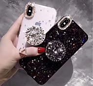 economico -telefono Custodia Per Apple Per retro iPhone 12 Pro Max 11 SE 2020 X XR XS Max 8 7 6 iPhone 11 Pro Max SE 2020 X XR XS Max 8 7 6 Con diamantini Con supporto Glitterato Resistente TPU