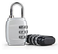 economico -Lucchetto con codice Portatile Duraturo Metallo 1 pezzo Nero Bianco Accessorio di viaggio