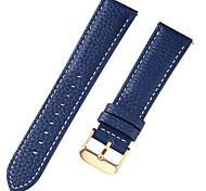 economico -vera pelle / Pelle / Pelo di vitello Cinturino per orologio  Blu 17 cm / 6,69 pollici / 18 cm / 7 pollici / 19 cm / 7,48 pollici 1 cm / 0,39 pollici / 1,2 cm / 0,47 pollici / 1,3 cm / 0,5 pollici