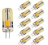 economico -10 pezzi 3 W Luci LED Bi-pin 220 lm G4 T 48 Perline LED SMD 3014 Adorabile Bianco caldo Luce fredda 12 V