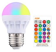 abordables -1pc 3 W Ampoules LED Intelligentes 200-250 lm E26 / E27 1 Perles LED SMD 5050 Elégant Intensité Réglable Commandée à Distance RGBW 85-265 V / RoHs