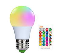 abordables -1pc 3 W Ampoules LED Intelligentes 200-250 lm E26 / E27 1 Perles LED SMD 5050 Elégant Intensité Réglable Commandée à Distance RGBW 85-265 V / RoHs / FCC