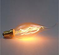 economico -1pc 40 W E14 C35 Giallo corpo trasparente Incandescente Vintage Edison Lampadina 220-240 V