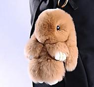 abordables -Rabbit Porte-clés Jaune Marron Fourrure Pour