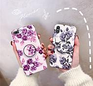 economico -telefono Custodia Per Apple Per retro iPhone XR iPhone XS iPhone XS Max iPhone X iPhone 8 Plus iPhone 8 iPhone 7 Plus iPhone 7 iPhone 6s Plus iPhone 6s Con supporto Effetto ghiaccio Floreale Morbido