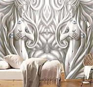 economico -Artistico 3D Angelo Decorazioni per la casa Classico Moderno Rivestimento pareti, Tela Materiale adesivo richiesta sfondo Murale Panno da muro, Carta da parati