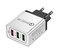 cheap -USB Charger -- 3 Desk Charger Station with Quick Charge 2.0 US Plug / EU Plug Charging Adapter