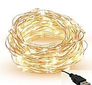 abordables -5m Guirlandes Lumineuses 50 LED SMD 0603 Blanc Chaud Blanc Rouge Découpable Soirée Décorative 5 V / IP65