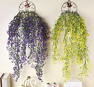 abordables -Plantes artificielles Plastique Moderne contemporain Vin Guirlande et Fleur Murale Vin 1