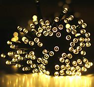 economico -luce solare esterna della stringa ha condotto la luce solare del giardino 30m luci della stringa luci esterne della stringa 300 led 1set staffa di montaggio 1 set bianco caldo freddo bianco rgb