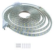abordables -KWB 5m bandes lumineuses LED Ruban LED Flexibles 300 LED SMD5050 10mm 1Set Support de montage 1 set Blanc Chaud Blanc Rouge Imperméable Découpable Décorative 220-240 V  IP68