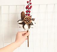 abordables -1 branche naturel sec coton cône de pin décor à la maison salon fleurs affichage