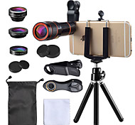 economico -Obiettivo del telefono cellulare Obiettivo Fish-Eye / Lunghezza focale della lente / Grandangolo vetro / Plastica 10X e oltre 35 mm 15 m 198 ° Obiettivo con supporto