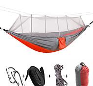 abordables -Hamac de camping avec moustiquaire Extérieur Respirable Anti-Moustique Ultra léger (UL) Pliable Nylon Parachute avec mousquetons et sangles pour 1 personne Camping Camping / Randonnée / Spéléologie