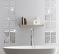 abordables -formes stickers muraux bureau, pré-collé pvc décoration de la maison sticker mural 10 * 10 cm