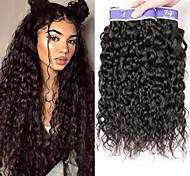 abordables -Lot de 3 Tissage de cheveux Cheveux Brésiliens Ondulation Extensions de cheveux Naturel humains Cheveux Naturel Rémy Paquets de 100% Remy Hair Weave 300 g Tissages de cheveux humains Extensions