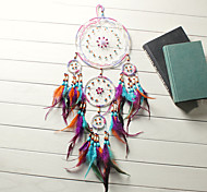 economico -boho acchiappasogni regalo fatto a mano appeso a parete arredamento arte ornamento artigianato piuma perlina 50 * 13 cm per bambini camera da letto festival di nozze