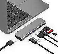 abordables -LENTION CB-TP-CS64THCR USB 3.0 Type C to HDMI 2.0 / Thunderbolt / USB 3.0 / USB 3.0 Type C / carte SD Hub USB 9 Les ports Haut débit / Avec lecteur de carte (s) / Fonction de livraison de puissance