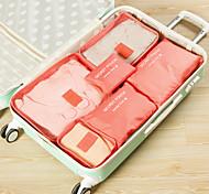 economico -6 Organizer per valigia Kit da viaggio Massima capacità Portatile Anti-polvere Compatta Viaggi A rete Nylon Regalo Per Tutti Unisex 37.5*27*12 cm / Borsa per accessori / Borsa per scarpe
