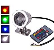 abordables -1 pc 10 W Projecteurs LED Imperméable Télécommandé Capteur infrarouge RGB 12 V 85-265 V Eclairage Extérieur Cour Jardin 1 Perles LED