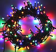 economico -la luce solare esterna della stringa ha condotto la luce solare del giardino 10m luci della stringa luci esterne della stringa 50 led 1set staffa di montaggio 1 set bianco caldo freddo bianco rgb