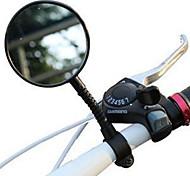abordables -Rétroviseur Rétroviseur de Vélo sur Guidon réglable flexible Incassable Rétroviseur Grand Angle Cyclisme moto Vélo Plastique Résine Noir Vélo de Route Vélo tout terrain / VTT