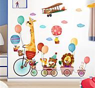 abordables -dessin animé mignon stickers muraux animaux papier peint auto-adhésif maternelle décoration murale stickers chambre chevet chambre d'enfants stickers 85 * 102cm