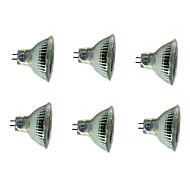 abordables -6pcs 3 W Spot LED 200 lm MR16 MR16 12 Perles LED SMD Décorative Décoration de mariage de Noël Blanc Chaud Blanc Froid 12 V / RoHs