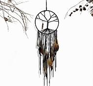 abordables -Boho dream catcher cadeau fait à la main tenture murale décor art ornement artisanat arbre de vie bijou 80 * 20 cm pour enfants chambre mariage festival