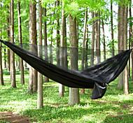 abordables -Hamac de camping avec moustiquaire Hamac double Extérieur Portable Poids Léger Respirable Anti-Moustique Ultra léger (UL) Maille Nylon Parachute avec mousquetons et sangles pour 2 personne Pêche