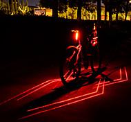 abordables -Laser LED Eclairage de Velo Eclairage de Vélo Arrière Eclairage sécurité / feu clignotant velo VTT Vélo tout terrain Vélo Cyclisme Imperméable Modes multiples Super brillant Sécurité Lithium-ion 80 lm