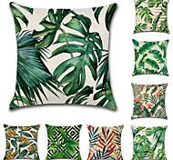 abordables -housse de coussin 1pc lin doux floral&plantes carré housse de coussin taie d'oreiller taie d'oreiller pour canapé chambre 45 x 45 cm (18 x 92 pouces) qualité supérieure lavable en machine