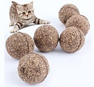 abordables -Chat animal de compagnie naturel cataire traiter balle drôle jouer attraper teaser mâcher chat jouet