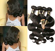 abordables -Lot de 4 Tissage de cheveux Cheveux Brésiliens Ondulation naturelle Extensions de cheveux Naturel humains Cheveux Naturel Rémy Paquets de 100% Remy Hair Weave 400 g Tissages de cheveux humains
