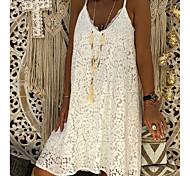 abordables -Femme Robe à Bretelles Robe Longueur Genou Blanche Noir Rouge Rose Claire Sans Manches chaud robes de vacances S M L XL XXL 3XL 4XL 5XL