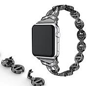 abordables -Bracelet de Montre  pour Apple Watch Series 5/4/3/2/1 Apple Boucle Classique / Design de bijoux Acier Inoxydable Sangle de Poignet
