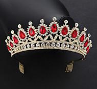 economico -diademi in lega di cristallo barocco di lusso vintage regina principessa corona con cristallo 1 pezzo copricapo occasione speciale matrimonio