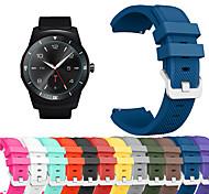 economico -Cinturino intelligente per LG 1 pcs Cinturino sportivo Silicone Sostituzione Custodia con cinturino a strappo per LG G Watch W100 LG G Watch R W110 LG Watch Urbane W150 22mm